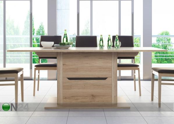 Jatkettava ruokapöytä WIN EXTENSION 90x150-200 cm