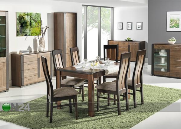 Jatkettava ruokapöytä 82x135-185 cm