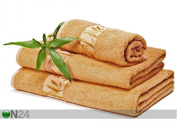 Bambu pyyhkeet ruskea
