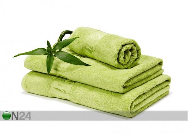 Bambu pyyhkeet kirkas vihreä