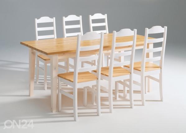 Ruokapöytä SCALA, mänty 90×180 cm