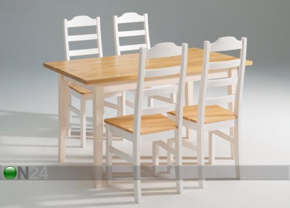 Ruokapöytä SCALA, mänty 90x140 cm