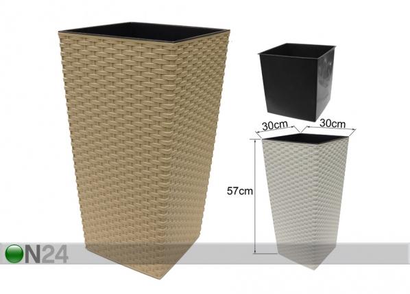 Kukkaruukku FINEZIA-R 30x30 cm