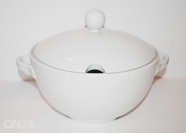 Keittoastia valkoista posliinia 3 L