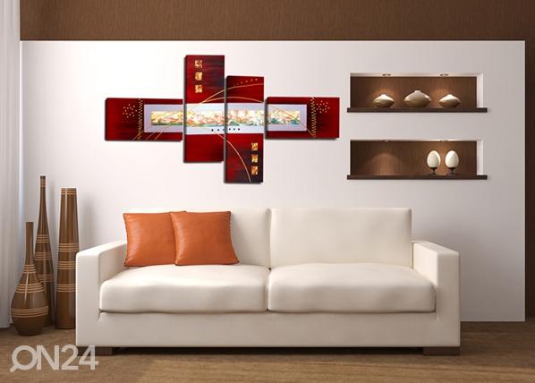 Neliosainen seinätaulu RIEMU