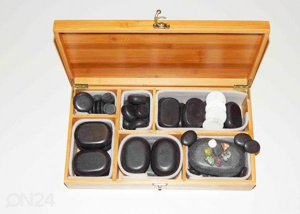 Laavakivipakkaus 53 hierontakiveä + 7 tsarkakiveä