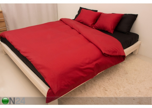 Vuodevaatesetti RED-BLACK satiini 200x210 cm AN-69967