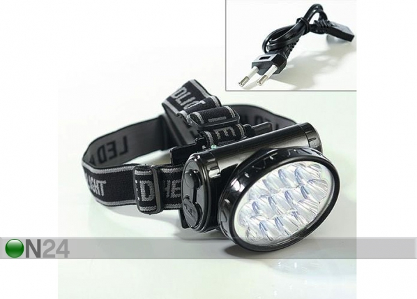 Otsalamppu akulla LED