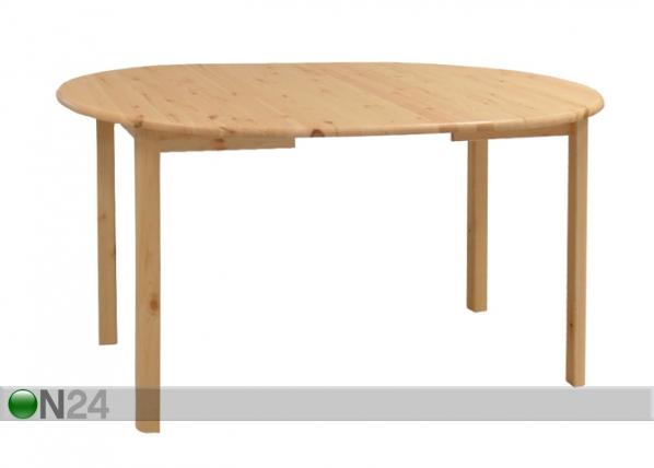 Jatkettava ruokapöytä, mänty 100x100-180 cm