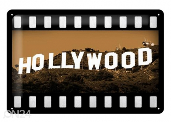 Retrotyylinen metallijuliste HOLLYWOOD 20x30 cm SG-73496