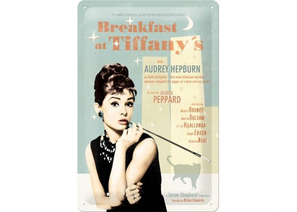 Retrotyylinen metallijuliste BREAKFAST AT TIFFANY´S SG-73766