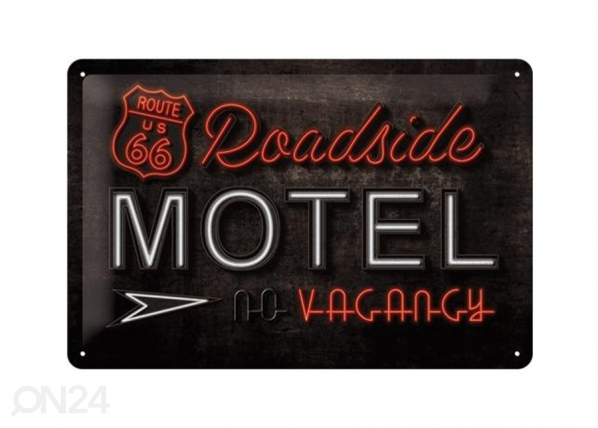 Retrotyylinen metallijuliste ROUTE 66 ROADSIDE MOTEL 20x30 cm SG-74268