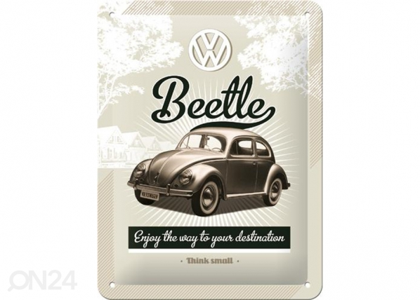 Retrotyylinen metallijuliste VW BEETLE 15x20 cm SG-74272