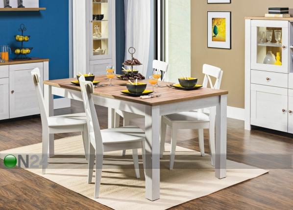 Jatkettava ruokapöytä 90x160-200 cm