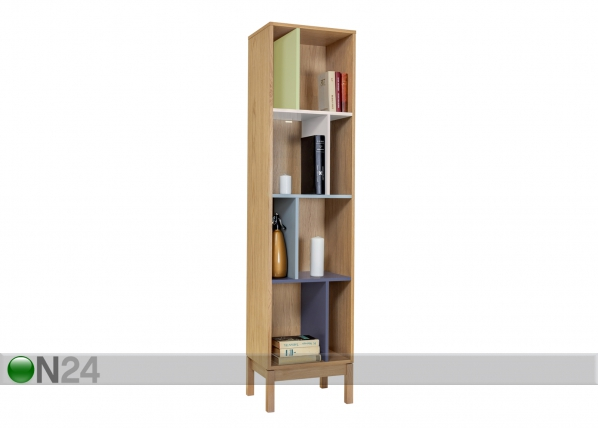 Hyllystö ABBEY WOOD OFFSET BOOKCASE WO-74846