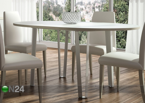 Jatkettava ruokapöytä AQUA 113x113-152 cm