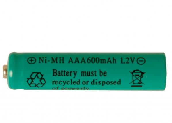 Aurinkoenergialla ladattava Ni-MH akku AAA 1,2 V