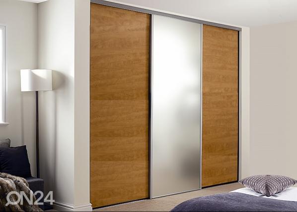 Liukuovet Prestige, 1 peili ja 2 melamiiniovea 250-300x255 cm