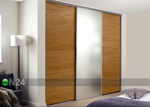 Liukuovet PRESTIGE, 1 peili ja 2 melamiiniovea 270x250 cm