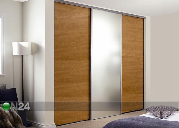 Liukuovet PRESTIGE, 1 peili ja 2 melamiiniovea 280x250 cm