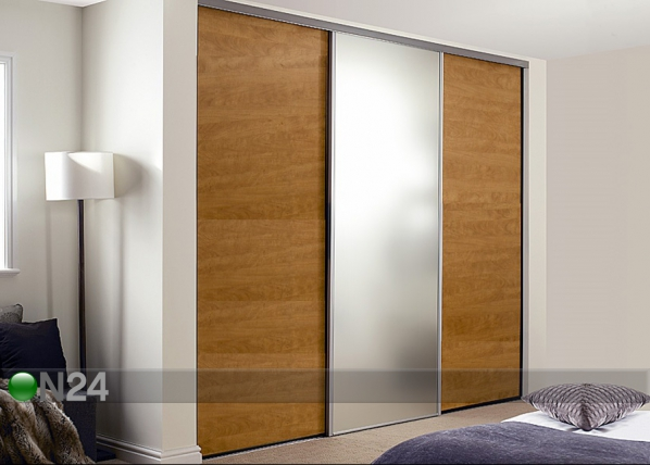 Liukuovet PRESTIGE, 1 peili ja 2 melamiiniovea 290x250 cm