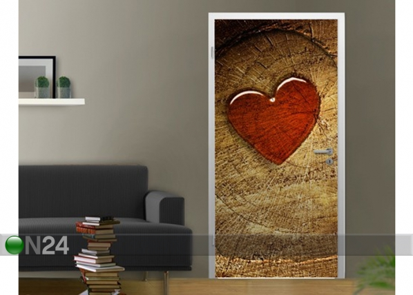 Kuvatapetti WHIT ALL MY HEART 100x210 cm ED-76651