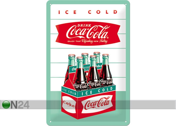 Retro metallijuliste COCA-COLA ICE COLD 20x30 cm SG-78406