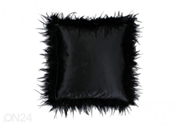 Koristeellinen silkkityynyliina 60x60 cm