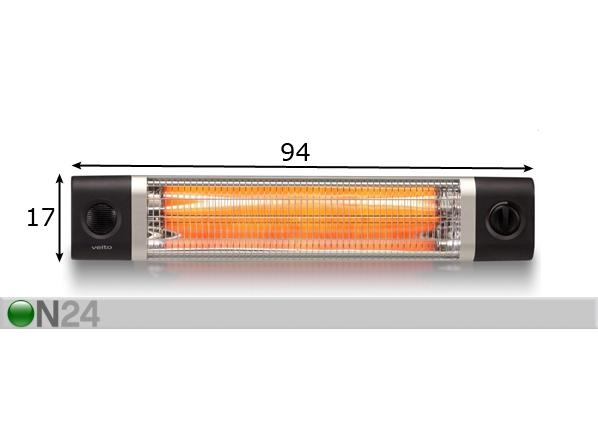 Lämpölamppu VEITO CH2500TW