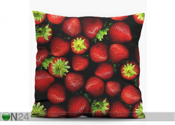 Koristetyyny STRAWBERRIES 38x38 cm