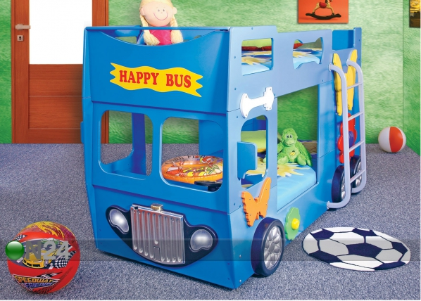 Kerrossänky HAPPY BUS 90x190 cm TF-83312
