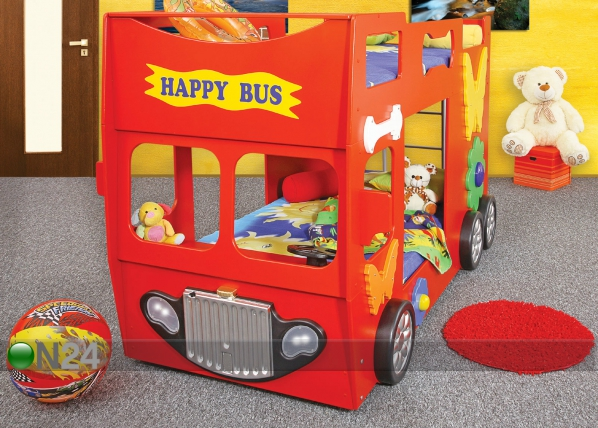 Kerrossänky HAPPY BUS 90x190 cm TF-83328
