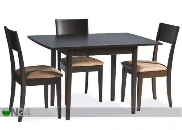 Jatkettava ruokapöytä EASY 80x60-120 cm