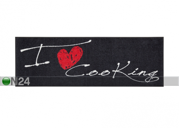 Matto I LOVE COOKING HEART 60x180 cm A5-84281