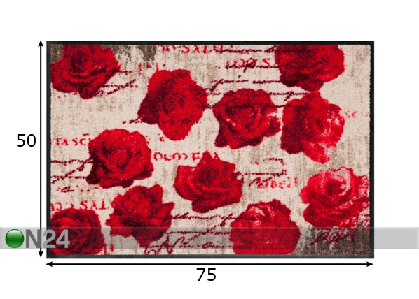 Matto SCENT OF ROSES 50x75 cm A5-84307