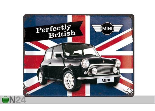 Retro metallijuliste MINI PERFECTLY BRITISH 30x40 cm SG-84356