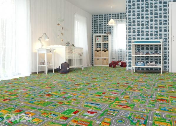Lastenhuoneen matto LIIKENNE 100x200 cm