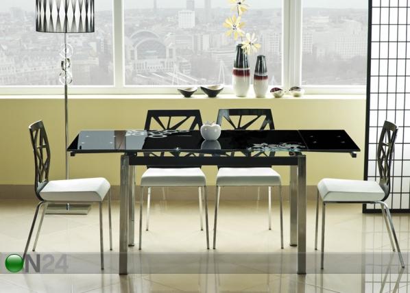 Jatkettava ruokapöytä 74x110-170 cm