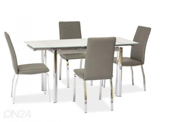 Jatkettava ruokapöytä 70x100-150 cm