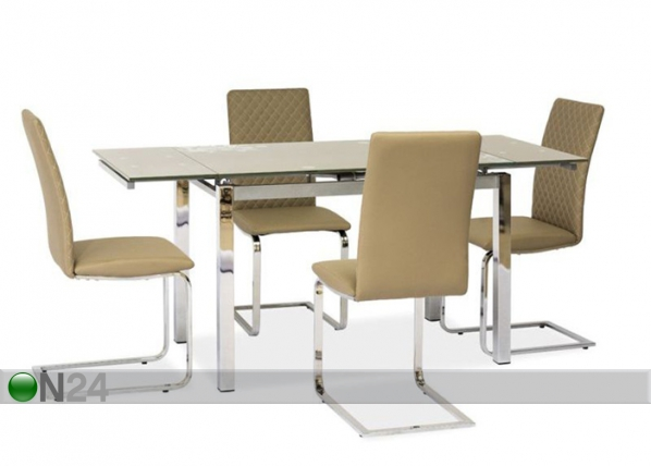 Jatkettava ruokapöytä 80x120-180 cm