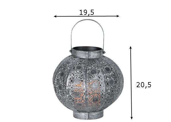 Metallinen LED lyhty AGADIR