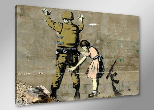 Seinätaulu BANKSY ART 60x80 cm