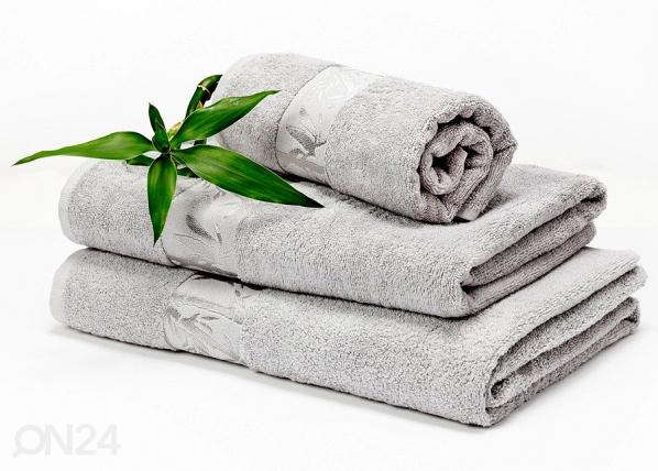 Bambu pyyheliinasetti harmaa
