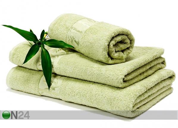 Bambu pyyheliinasetti vaaleanvihreä