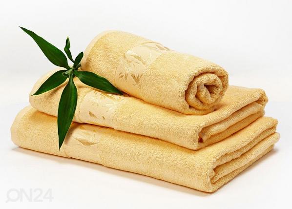 Bambu pyyheliinasetti keltainen