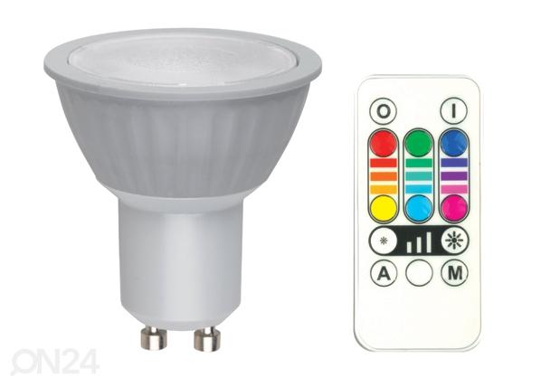 RGB LED lamppu GU10