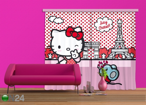 Fotoverho HELLO KITTY WITH MOUSE 180x160 cm ED-87103