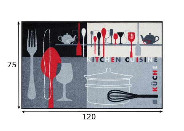 Matto KITCHEN CROCKERY 75x120 cm A5-87176