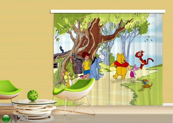 Puolipimentävä fotoverho DISNEY WINNIE THE POOH AND FRIENDS 280x245 cm ED-87334