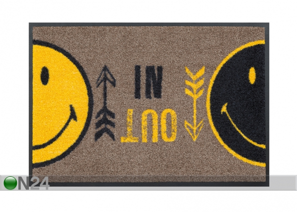 Matto SMILEY IN OUT 40x60 cm A5-87662